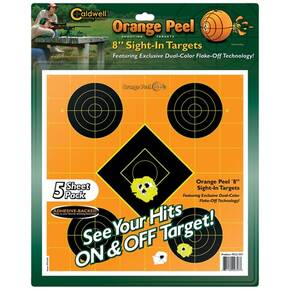 "Battenfeld Technologies Caldwell Orange Peel Targets Sight-In Target - 8"", 5/Pack"