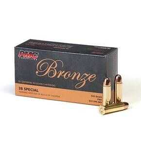 PMC Bronze Handgun Ammunition .38 Spl 132 gr FMJ 917 fps 50/box