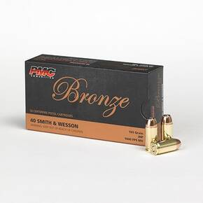 PMC Bronze Handgun Ammunition .40 S&W 165 gr JHP 1040 fps 50/box