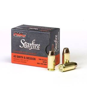 PMC Gold Starfire Ammunition .40 S&W 180 gr SFHP 985 fps 20/box