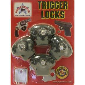 Bulls Eye Peace Keeper Plastic Keyed Trigger Lock - 4 Pack
