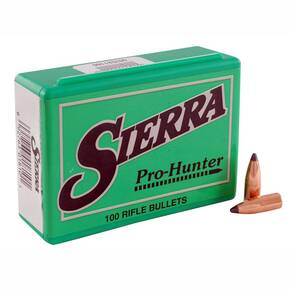 "Sierra Pro-Hunter Rifle Bullets .30 cal/7.62mm .308"" 180 gr RN 100/ct"