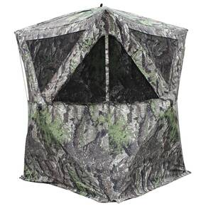 Primos The Club XXL Hub Style Ground Blind 78 in. Height - Ground Swat Grey Camo