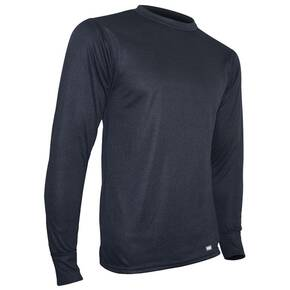 PolarMax Men's Midweight Double Base Layer Crew Top - Black