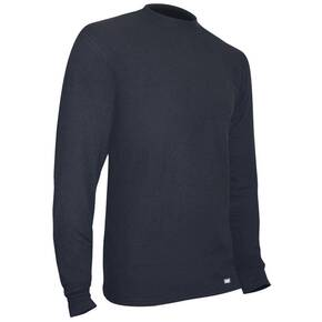 PolarMax Men's Heavyweight Quattro Fleece Crew Top - Black