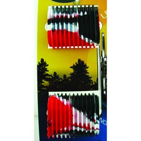 Reel Grip Reel Handle Accessory Cover - Red White & Black
