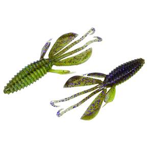 "Reaction Innovations Kinky Beaver Soft Craw Lure 5"" 7pk - Sprayed Grass"