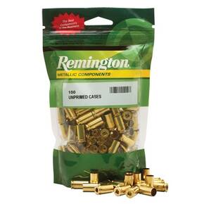 Remington Unprimed Brass Handgun Cartridge Cases 100/ct 9mm Luger
