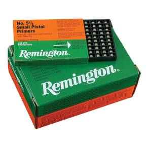 Remington Centerfire Primers-1-1/2 Small Pistol