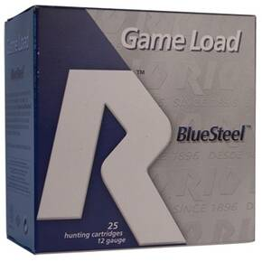 "Rio Game Load Blue Steel 12 ga 2 3/4"" 1 1/8oz BB 25/box"