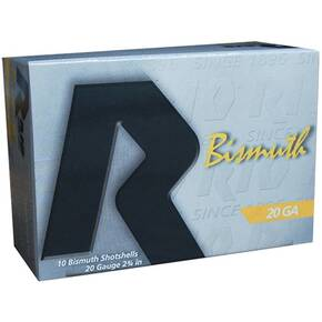 "Rio Bismuth 20 Shotshell 20 ga 2-3/4"" MAX 1 oz #4 1250 fps 10/Box"