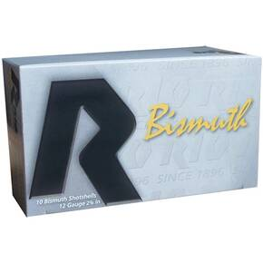 "Rio Bismuth 36 Shotshell 12 ga 2-3/4"" MAX 1-1/8 oz #6 1350 fps 10/Box"