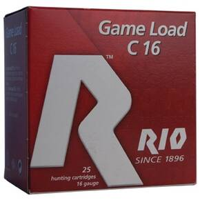 "Rio Field 16 ga 2 3/4"" 3 dr 1 oz #8 1300 fps - 25/box"