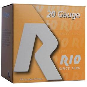 "Rio Small Game Load Shotshell 20 ga 3"" MAX 1-1/4 oz #6 1250 fps 25/Box"