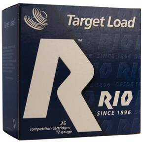 "Rio Target Load Trap 12 ga 2-3/4"" MAX 7/8 oz #8 1340 fps 25/Box"