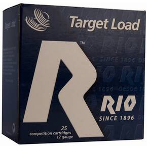 "Rio Target Load Trap 12 ga 2-3/4"" 2-3/4 oz 1 oz #8 1210 fps 25/Box"
