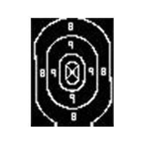 Speedwell Official NRA Police Qualification Silhouette Target Repair Center - 500/Pack