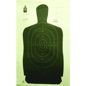 "Speedwell Official NRA Police Qualification Silhouette Police Silhouette - Black - 50 yd., 24"" X 45"", 100/Pack"