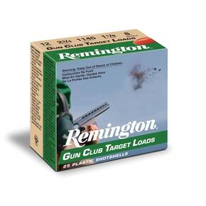 "Remington Gun Club Target Load 12 ga 2 3/4"" 3 dr 1 1/8 oz #8 1200 fps - 25/box"