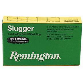 "Remington Slugger Rifled Slug 20 ga 2 3/4"" 2 3/4 dr 5/8 oz Slug 1580 fps - 5/box"
