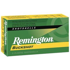 "Remington Express Buckshot Shotgun Ammo 20 ga 2 3/4"" 3 3/4 dr 20 plts #3B 1220 fps - 5/box"