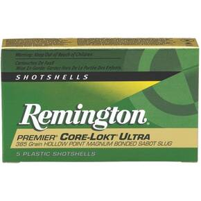 "Remington Premier Core-Lokt Ultra Bonded Sabot Slug 20 ga 2 3/4"" MAX 260 gr Slug 1900 fps - 5/box"