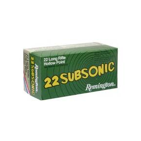 Remington .22 Subsonic Rimfire Ammunition .22 LR 38 gr HP 50/box