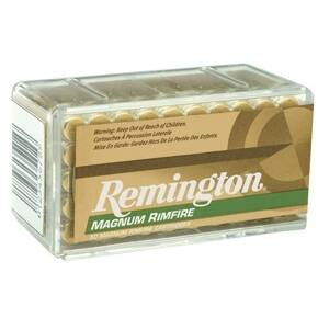 Remington Magnum Rimfire Ammunition .22 WMR 40 gr JHP 50/box