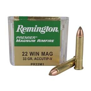 Remington Premier Rimfire Ammunition .22 WMR 33 gr ATV 50/ct