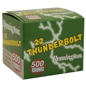 Remington .22 Thunderbolt Rimfire Ammunition .22 LR 40 gr RN 500/box