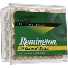 Remington Golden Bullet Rimfire Ammunition .22 LR 40Gr solid 100/ct