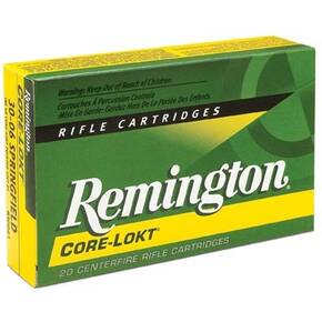 Remington Core-Lokt Rifle Ammunition .30-06 Sprg 165 gr PSP 2800 fps - 20/box