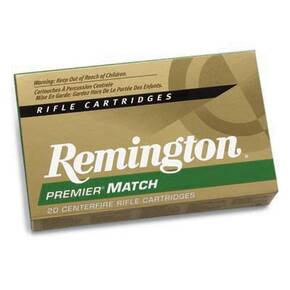 Remington Premier Match Rifle Ammunition .308 Win 168 gr BTHP 2680 fps - 20/box