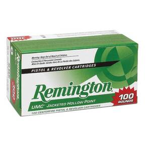 Remington UMC Handgun Ammunition .40 S&W 180 gr JHP  100/box