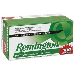 Remington UMC Handgun Ammunition .38 Spl (+P) 125 gr SJHP 100/box