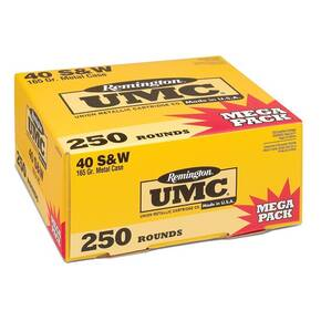 Remington UMC Handgun Ammunition .40 S&W 180 gr FMJ  250/box