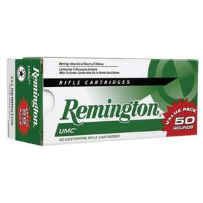 Remington UMC Rifle Ammunition .223 Rem 55 gr FMJ 2910 fps - 50/box