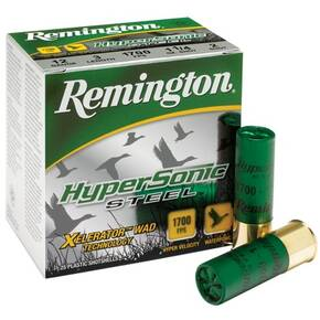 "Remington HyperSonic Steel 12 ga 3""  1 1/8 oz #4 1700 fps - 25/box"