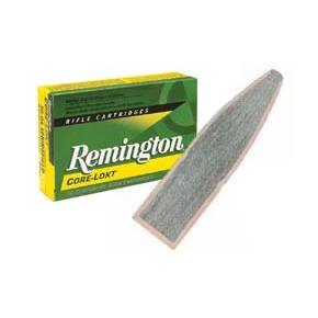 Remington Core-Lokt Rifle Ammunition .30-06 Sprg 150 gr PSP 2910 fps - 20/box