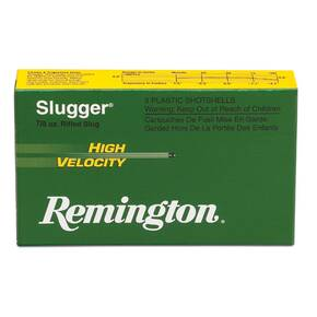"Remington Slugger High-Velocity Rifled Slug 12 ga 2 3/4"" MAX 7/8 oz Slug 1800 fps - 5/box"