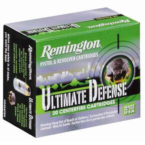 Remington Ultimate Defense 9mm Luger 124 gr BJHP Handgun Ammo - 20/box