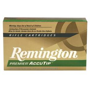 Remington Premier AccuTip Varmint Rifle Ammunition .222 Rem 50 gr ATV-BT - 3140 fps