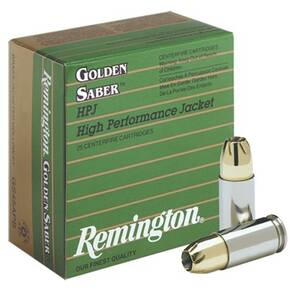 Remington Golden Saber Handgun Ammo .380 ACP 102 gr BJHP  25/box