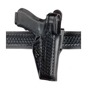 "Safariland S&W 1006, 1026 ""Top Gun"" Level I Retention Holster, Mid-Ride, Left Hand, Basket Black"