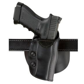 "Safariland S&W J Frame 2"" Custom Fit Paddle/ Belt Holster, Right Hand, Plain Black"