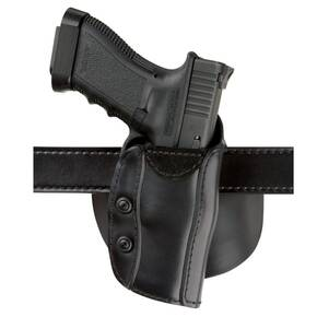 Safariland for Glock 17, 21 Custom Fit Paddle/ Belt Holster Right Hand Plain Black