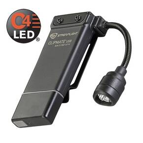 Streamlight Clipmate Rechargeable USB Light White/Red Clip-On LED Light