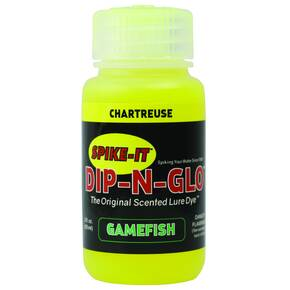 Spike It Dip-N-Glo Gamefish Dye Paint 2 oz - Chartreuse