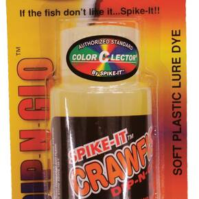 Spike It Dip-N-Glo Crawfish Scent & Dye 2 oz - Chartreuse