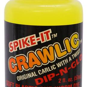 Spike It Crawlic Dip-N-Glo Scent & Dye 2oz - Chartreuse